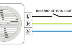 Схема подключения вентилятора к выключателю света
