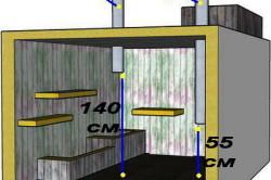 Схема монтажа вентиляционных труб в погребе