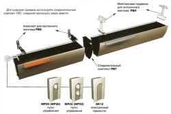 Схема монтажа воздушных тепловых завес