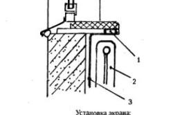 Схема установки экрана для сохранения тепла