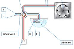 Пример подсоединения вентилятора