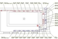 Схема приточно-вытяжной вентиляции в бассейне