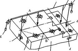 Схема разметки фундамента для установки радиального вентилятора