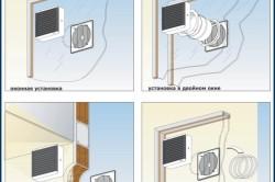Варианты установки оконных вентиляторов