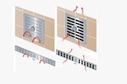 Схема регулируемой вентиляционной решетки
