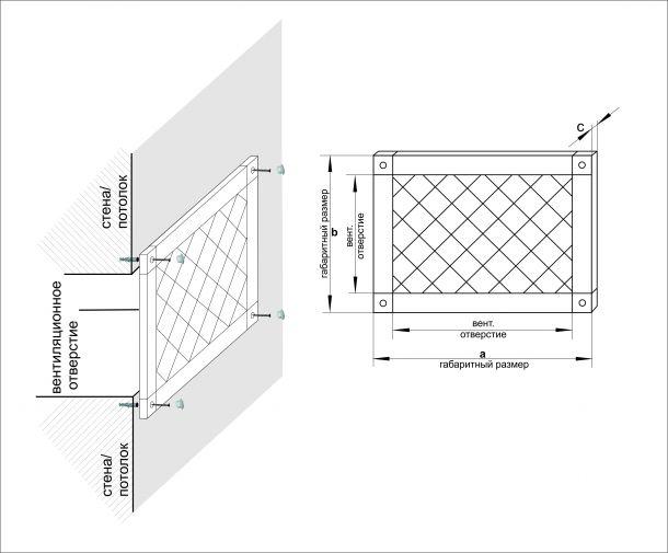 Схема монтажа вентиляционной