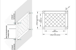 Схема монтажа вентиляционной решетки
