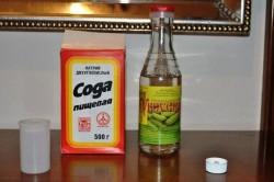 Сода и уксус для борьбы с грибком