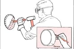 Подготовка отверстия для вентилятора