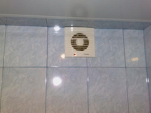 Вытяжной вентилятор в ванной комнате