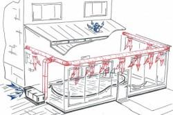 Схема общеобменной вентиляции для бассейна