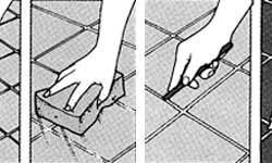 Правильная затирка швов на плитке после устранения плесени