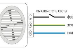 Схема подключения вентилятора к электрической проводке