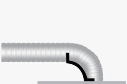 Схемы установки гибких воздуховодов с угловым держателем