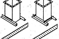 Крепление вертикального воздуховода