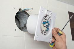 Установка вентилятора в туалет