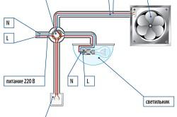 Монтаж вентилятора со светильником