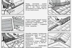 Схема монтажа кровельной вентиляции