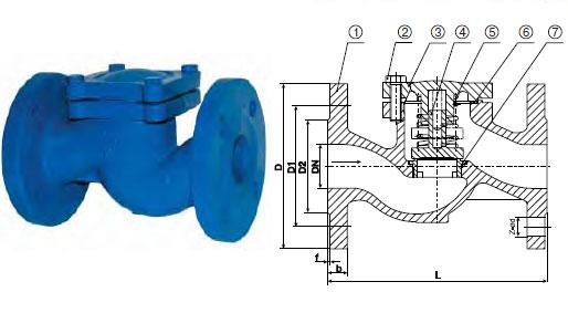 Схема фланцевого обратного клапана