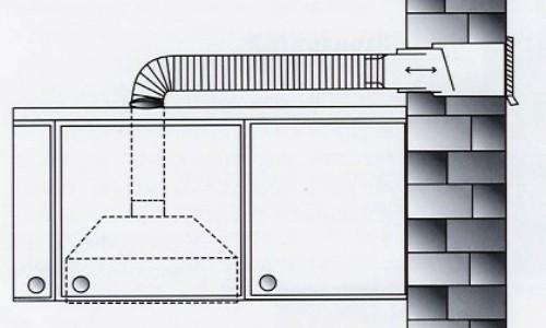 Схема установки встраиваемой вытяжки