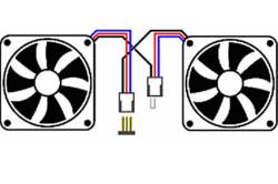 Схема последовательного подключения двух одинаковых вентиляторов