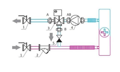 Схема деталей узла регулирования